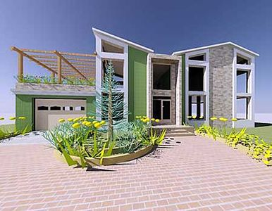 Stunning contemporary beach home plan 1200aj 2nd floor for Beach house plans with loft