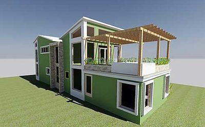 Stunning Contemporary Beach Home Plan - 1200AJ thumb - 03