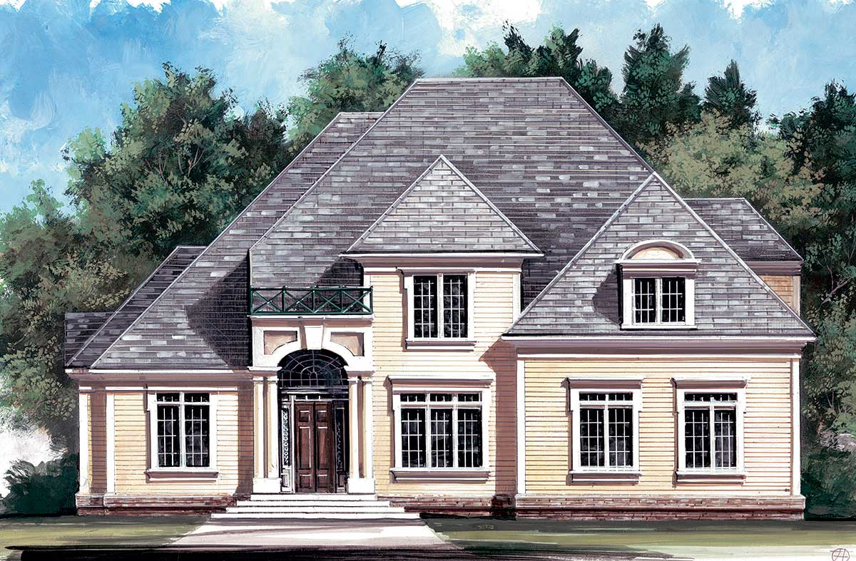 Classic early american design 12002jl architectural for Classic american house plans