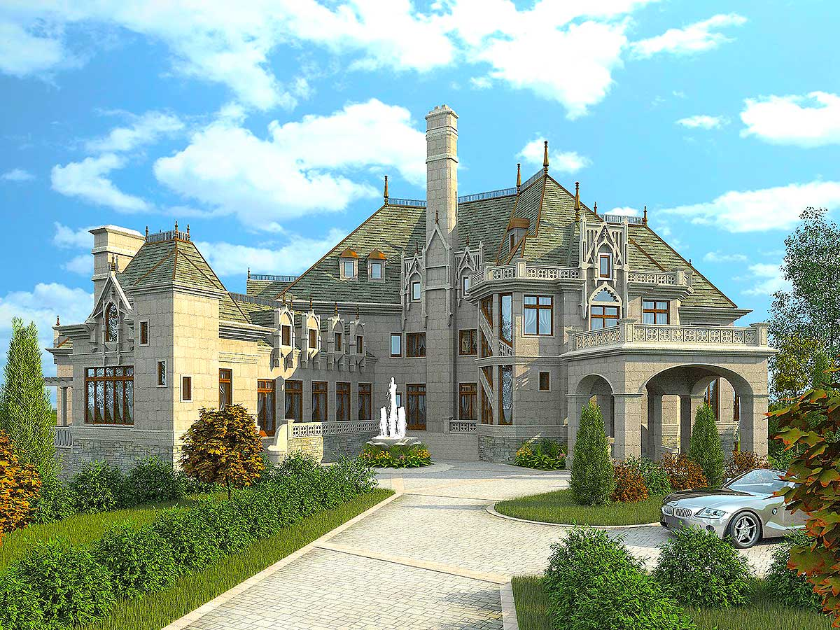 Majestic storybook castle 12013jl architectural for Castle architecture design