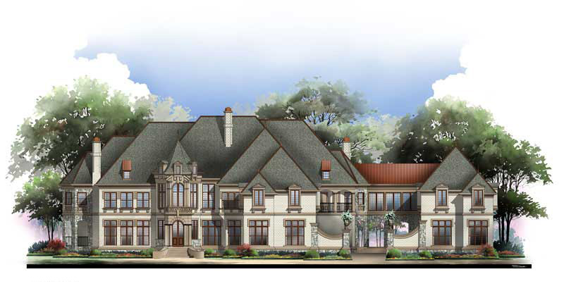 Palatial estate 12079jl 1st floor master suite 2nd for European estate house plans