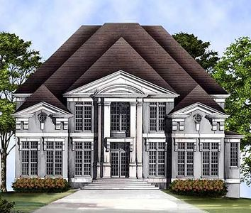 Majestic Columns and Overlapping Rooflines - 12093JL thumb - 01