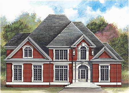 Stately two story home plan 12162jl architectural for Stately house plans