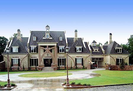 French country chateau 12192jl architectural designs for Chateau house plans
