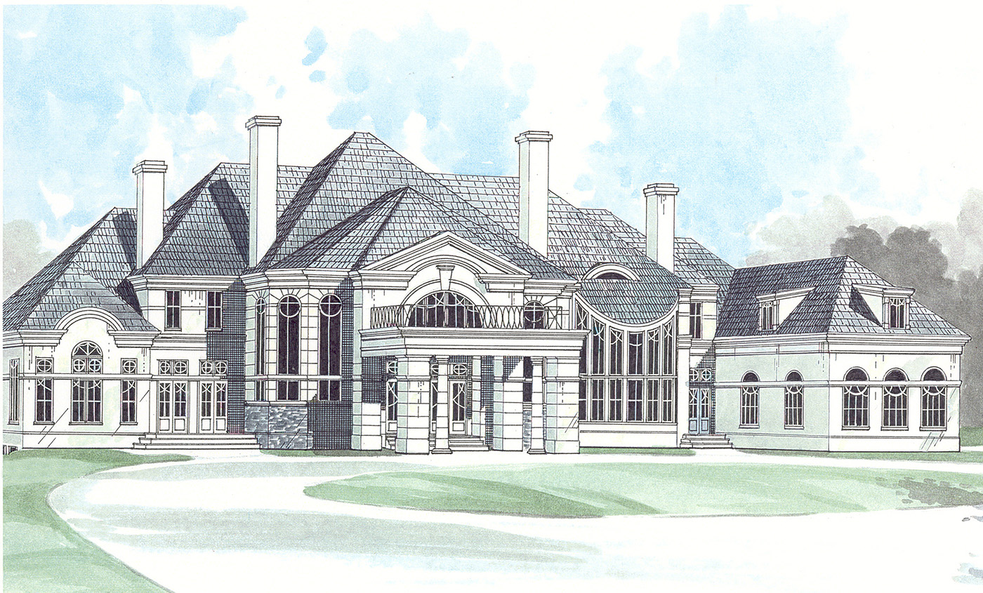 Stately chateau 12213jl architectural designs house for Stately house plans