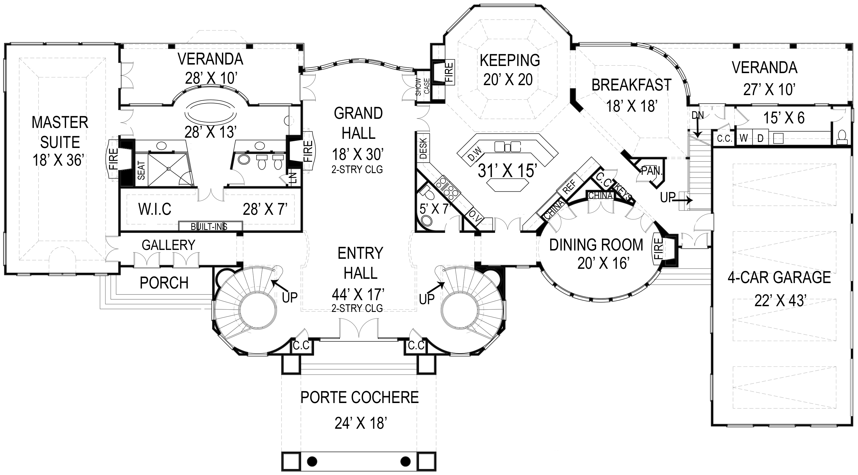 Stately chateau 12213jl architectural designs house for Chateau blueprints