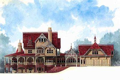 Victorian-Inspired Estate Home Plan - 12222JL thumb - 01