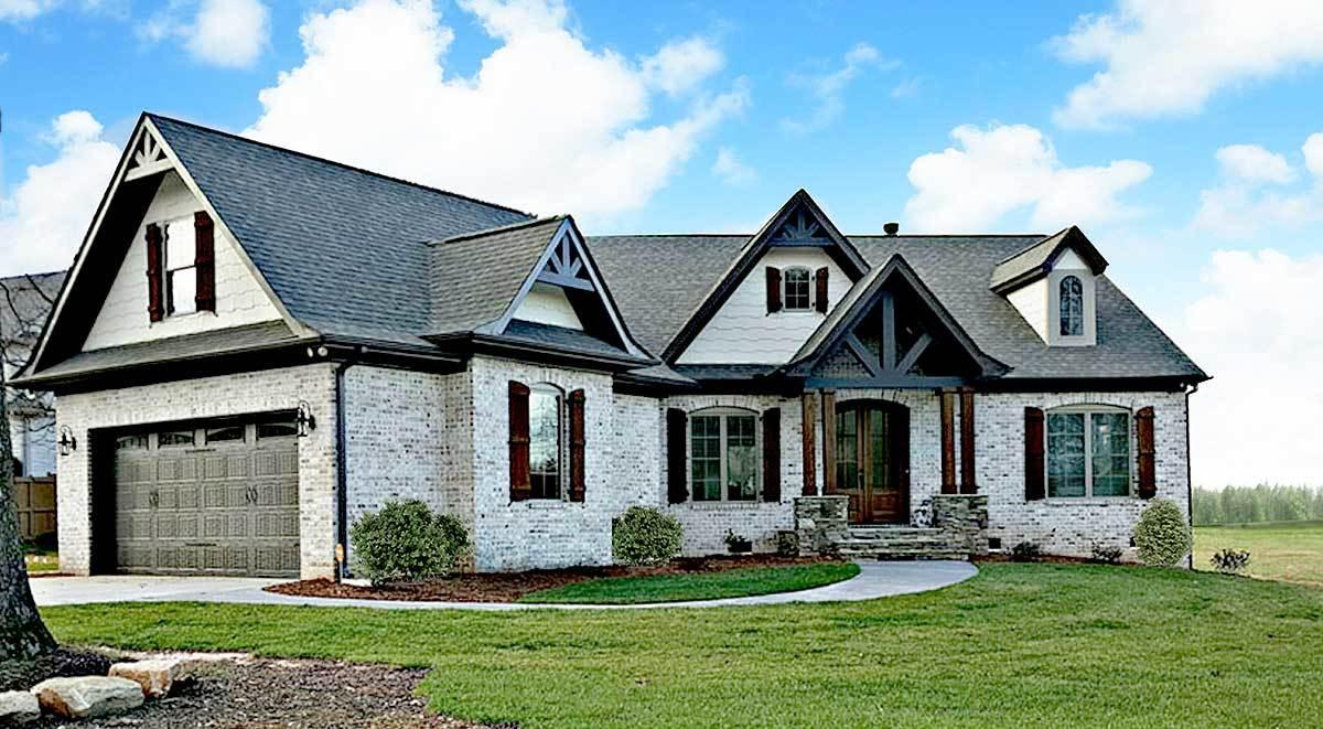 Expandable Rustic Ranch 12262jl Architectural Designs
