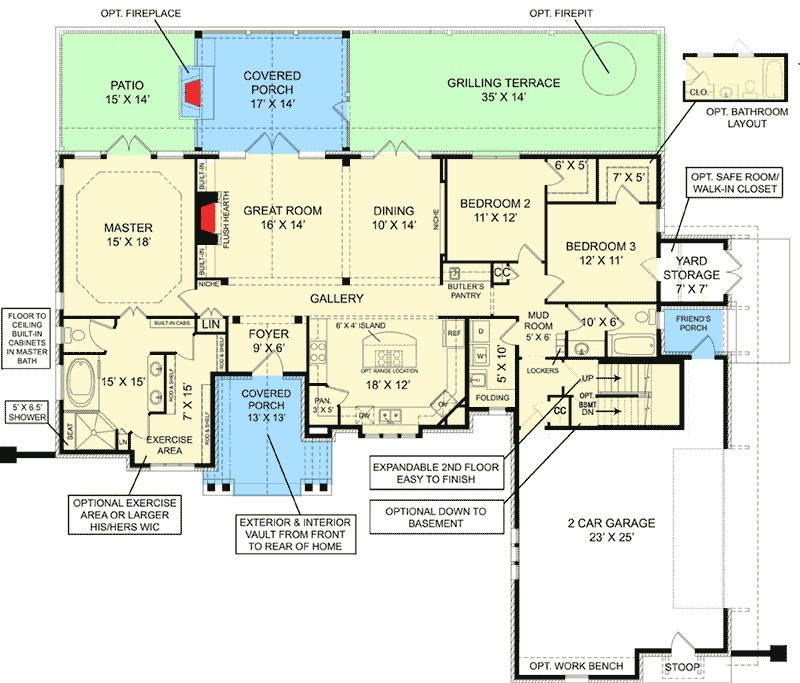Home plans with inlaw suites house plans with mother in for Home plans with mother in law apartment