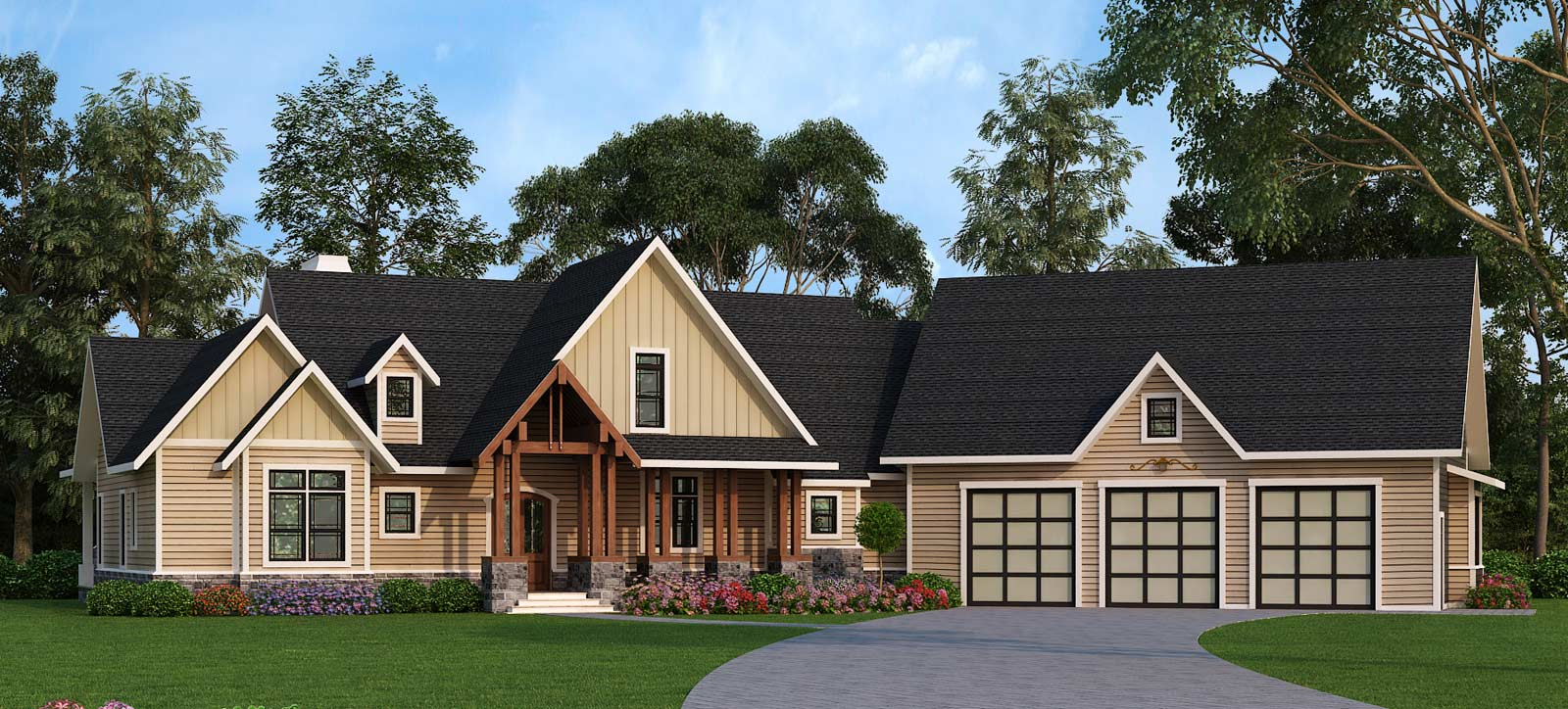 Mountain ranch with expansion and options 12279jl for Fairhope house plan