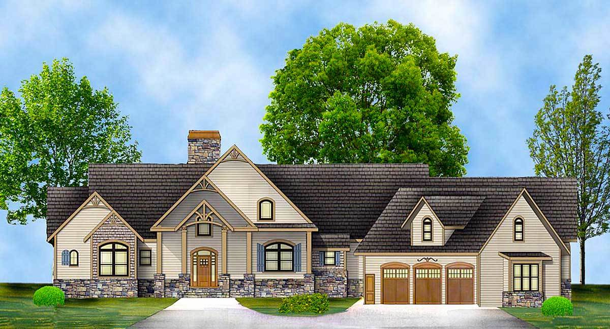 Rustic ranch with in law suite 12277jl architectural for Rustic ranch house plans