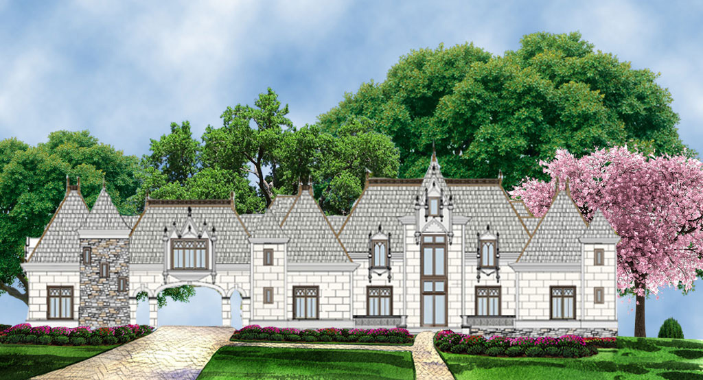 Opulent european manor home 12286jl architectural for European manor house plans