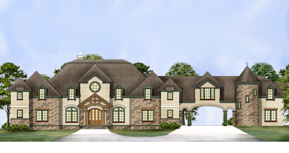 European Castle With Two Story Master Closet 12292jl