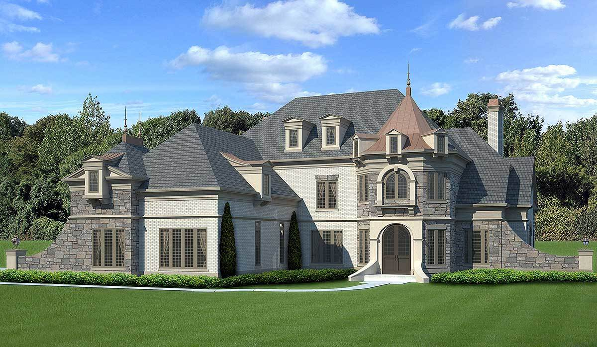 Castle like luxury house plan 12294jl architectural for Luxury plan