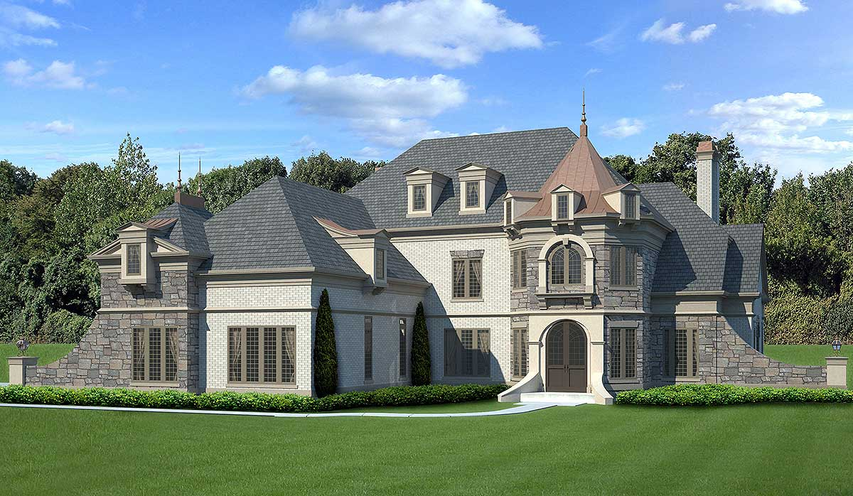 Castle Like Luxury House Plan 12294jl Architectural