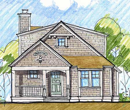 Block island cottage 12422ne architectural designs Island cottage house plans