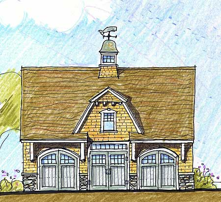 Three Car Carriage House Plan 12442ne Architectural