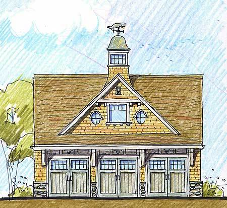Carriage house with roomy lounge 12444ne architectural for Large carriage house plans