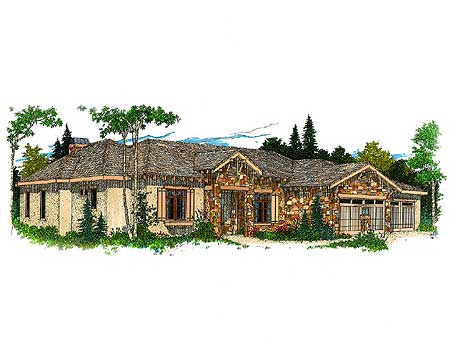 Hill Country Ranch House Plan 12500rs 1st Floor Master