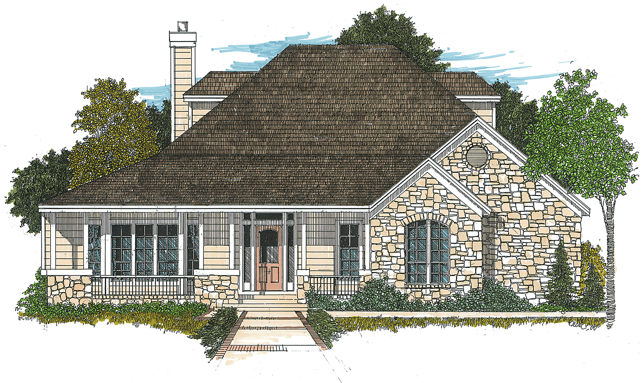 Hill country farmhouse 12507rs architectural designs for Hill country home plans