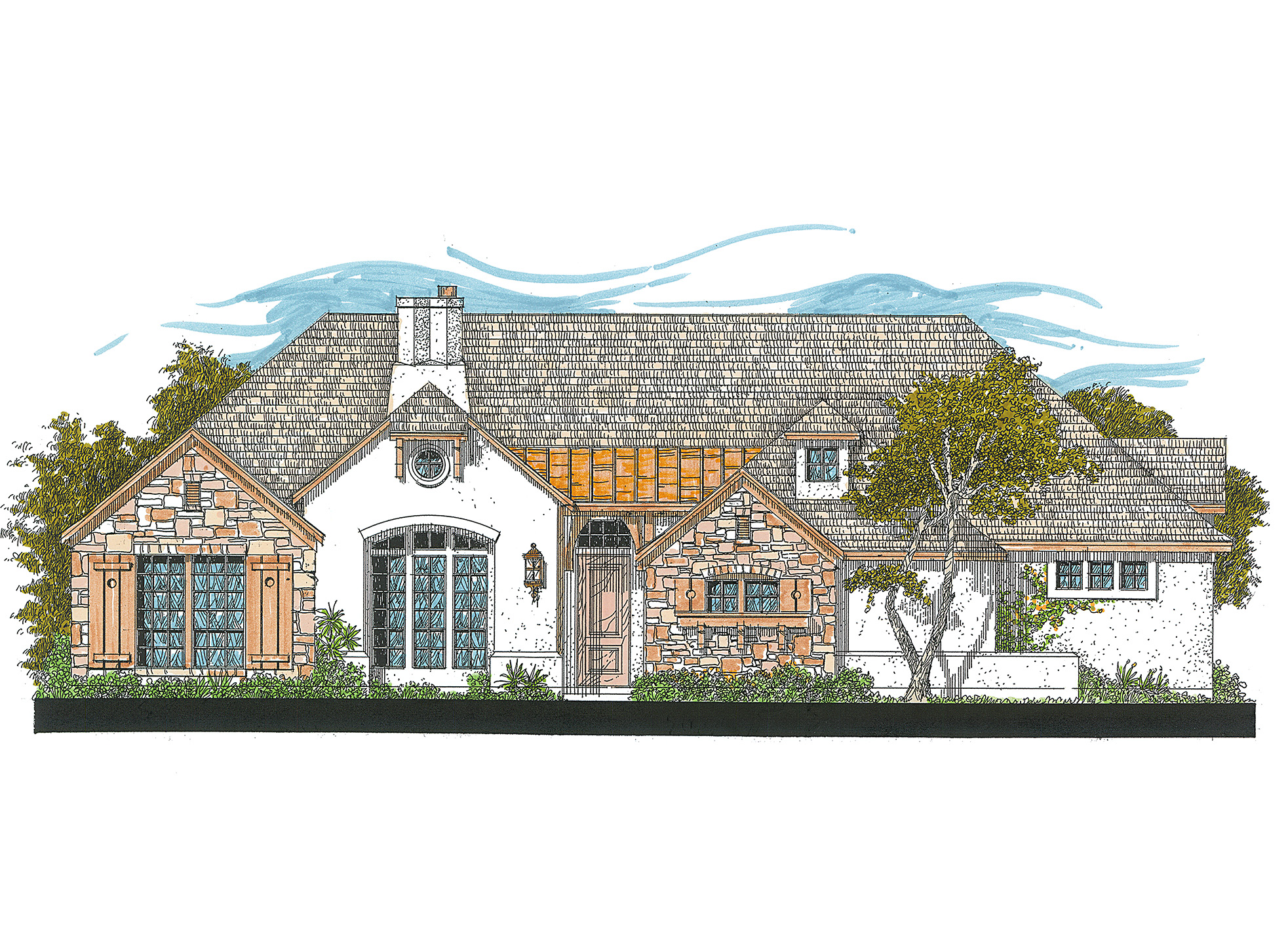 Rich detailing and great proportions 12521rs for Rich house plans