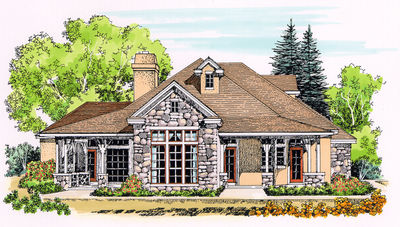 Rugged Country Home Plan - 12525RS thumb - 01