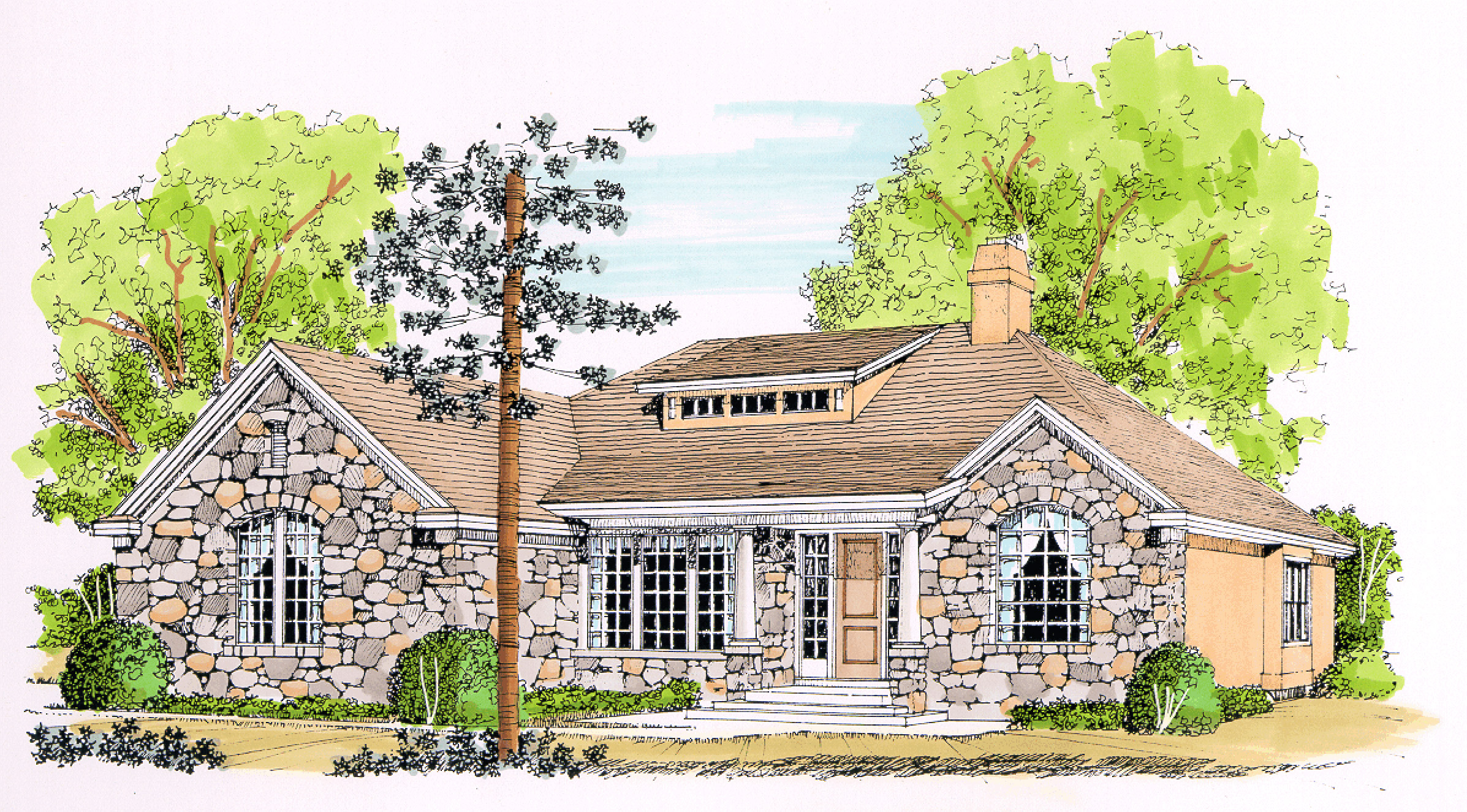 Storybook Texas Style Cottage 12526rs Architectural