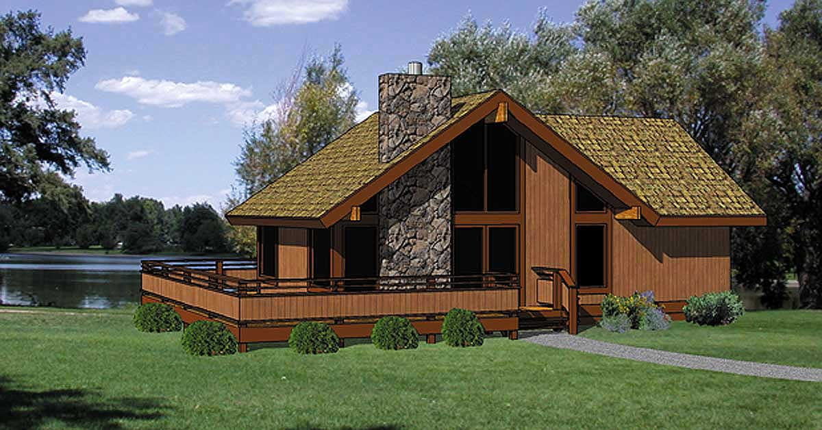 Escape with wraparound deck 12716ma architectural designs house plans - Mountain house plans dreamy holiday homes ...