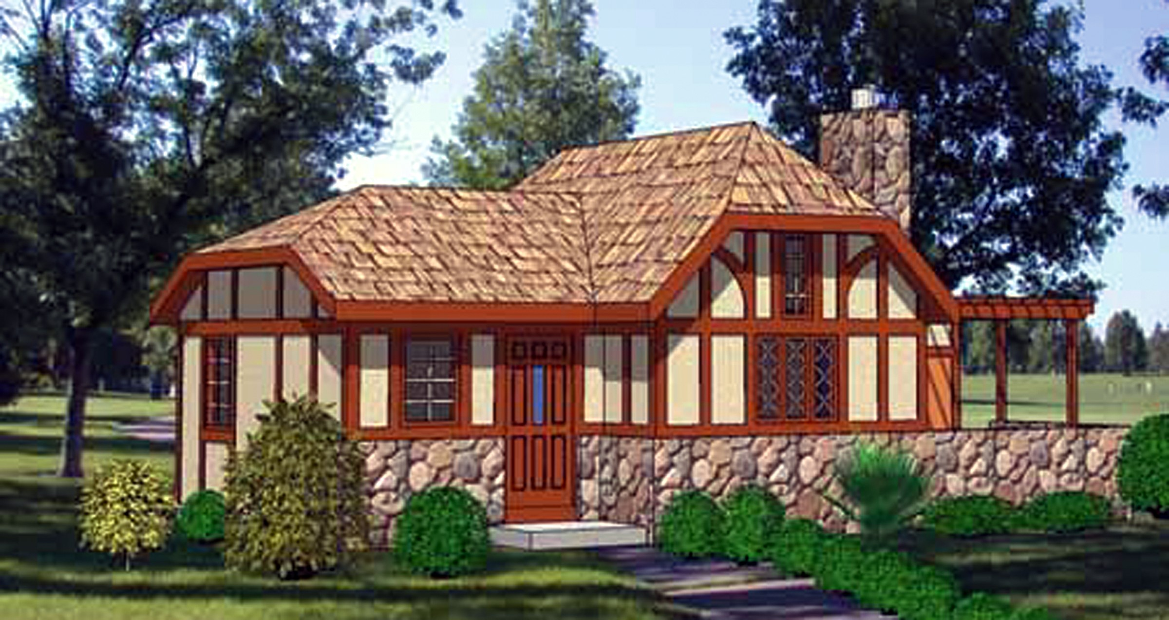 Charming storybook cottage 12720ma 1st floor master for Tudor cottage plans