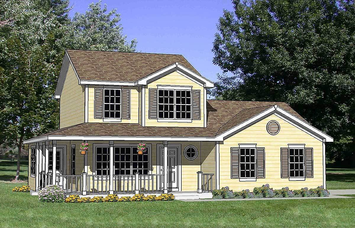 Country House Plan With Wrap Around Porch 12730ma