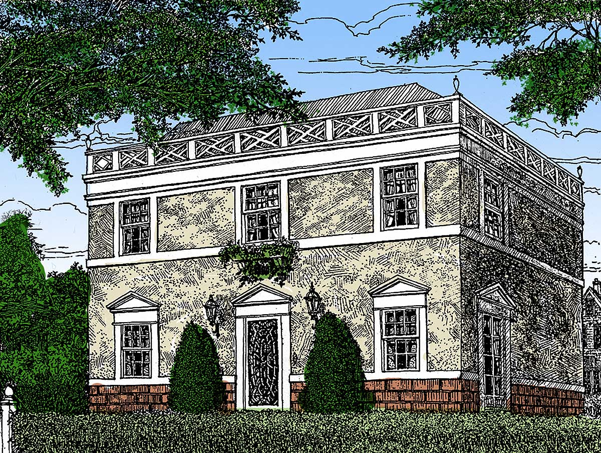 Architectural designs for Federal house plans