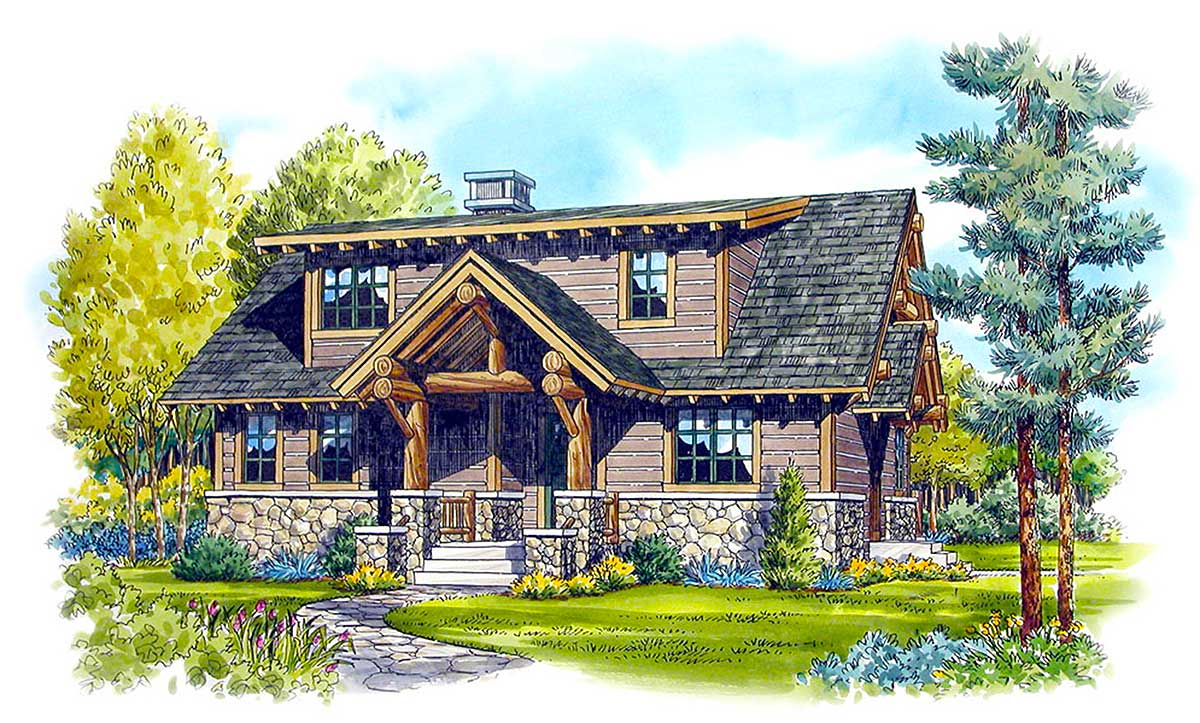 Rustic retreat 12916kn architectural designs house plans for Retreat house plans