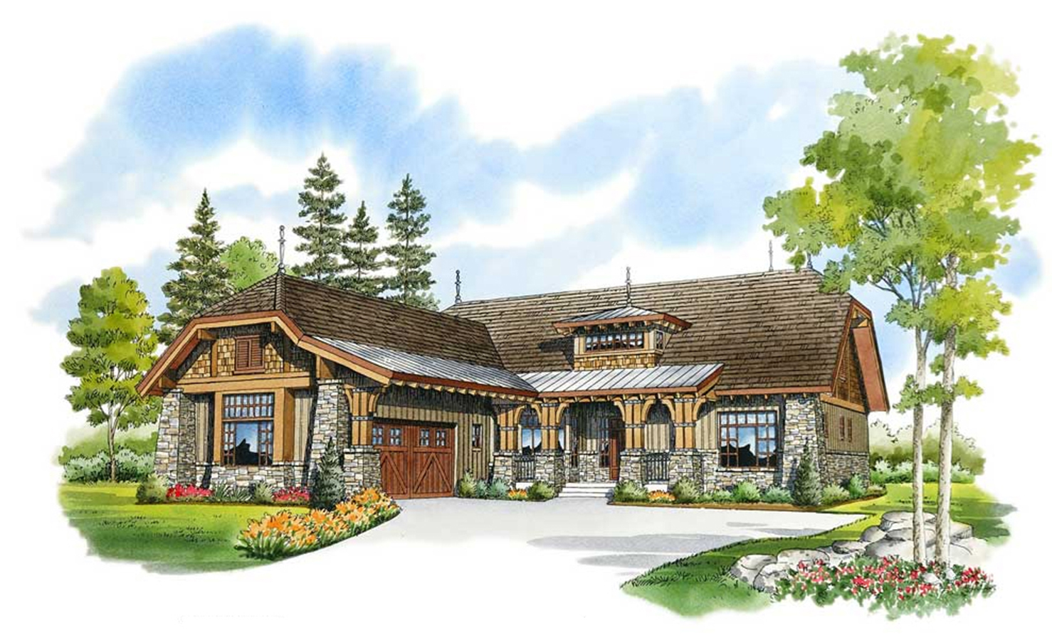 Private guest suite 12917kn architectural designs for House plans with guest suite