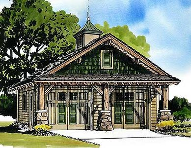 Rustic garage 12940kn architectural designs house plans for Rustic garage plans