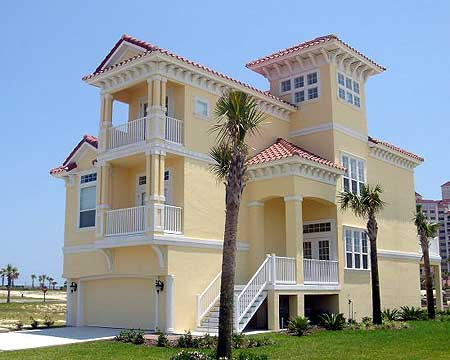 Pure coastal home design 13024fl 2nd floor master for Florida house plans for narrow lots