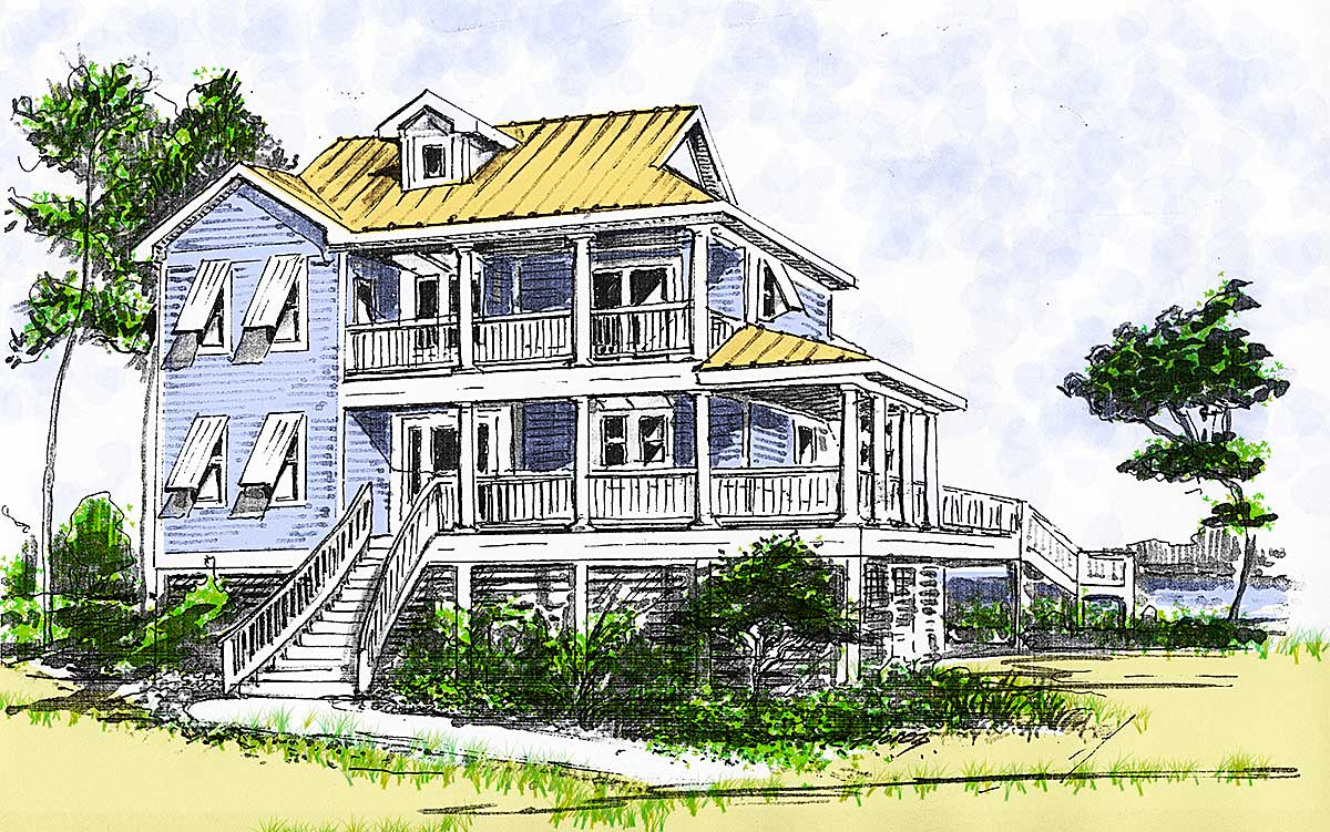 2 story beach cottage house plans home design and style for 2 story beach house