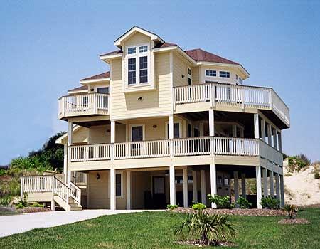 Narrow lot beach house plan 13038fl beach cad for Narrow lot beach house plans on pilings