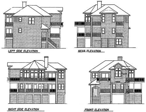 Narrow Lot Beach House Plan 13038fl Beach Cad