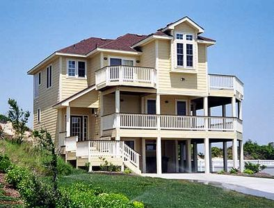 Narrow lot beach house plan 13038fl architectural for Beach house plans narrow lot