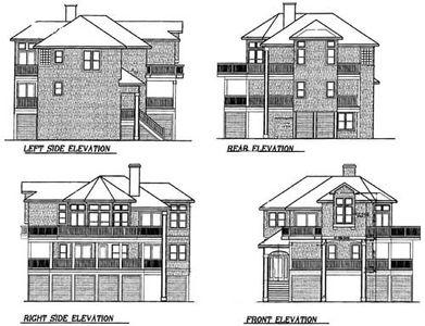 Narrow Lot Beach House Plan 13038FL Architectural Designs