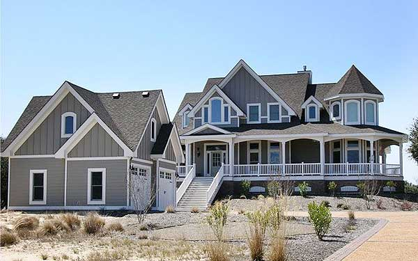 Shingled beauty with two stairs 13087fl 1st floor for Victorian beach house plans