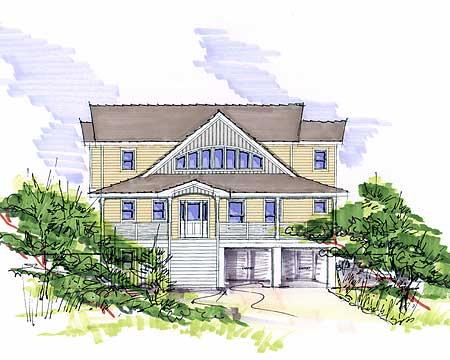 13112fl 1st floor master suite beach bonus room cad for Beach house plans with garage underneath