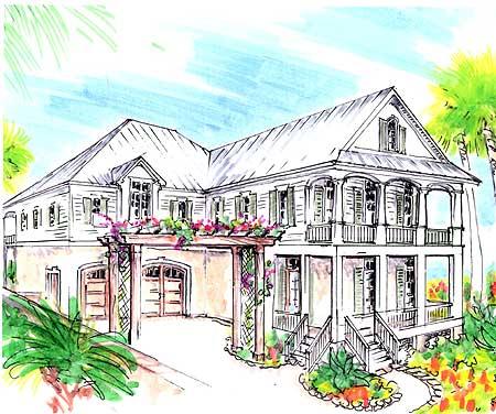 13113fl beach florida shingle narrow lot 1st floor for Beach house plans with garage underneath
