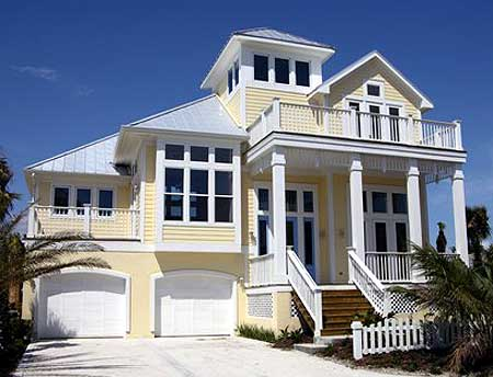 Classic coastal house plan 13128fl 2nd floor master for Classic beach house designs