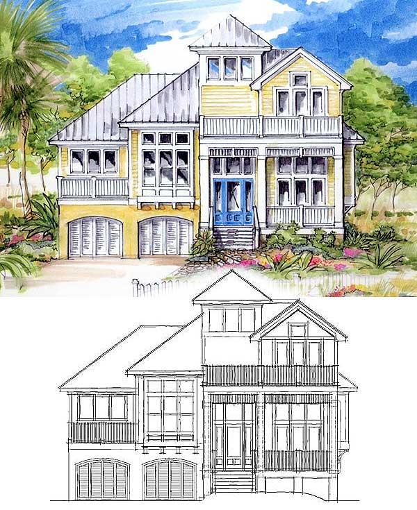 Classic Coastal House Plan 13128fl 2nd Floor Master