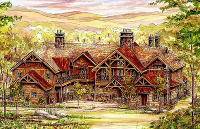 Over The Top Mountain Home Plan 13301ww Architectural