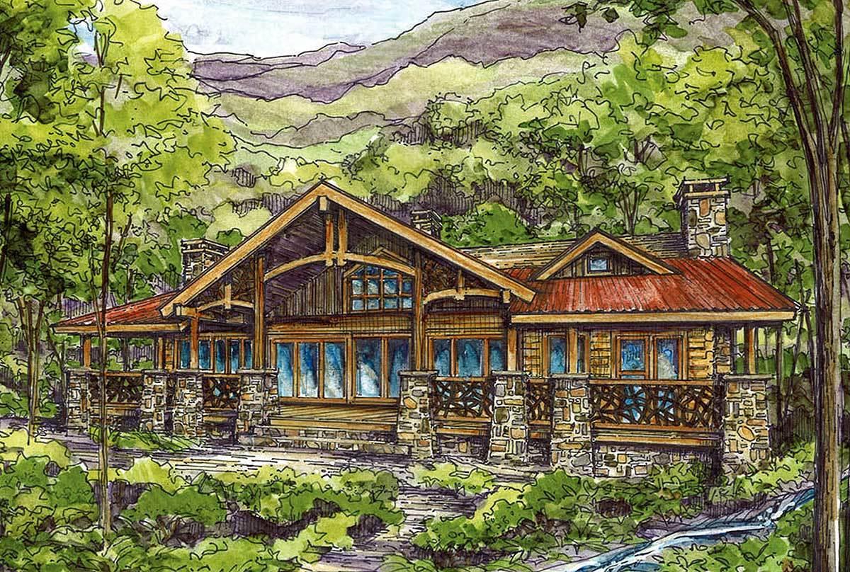 log plans architectural designs