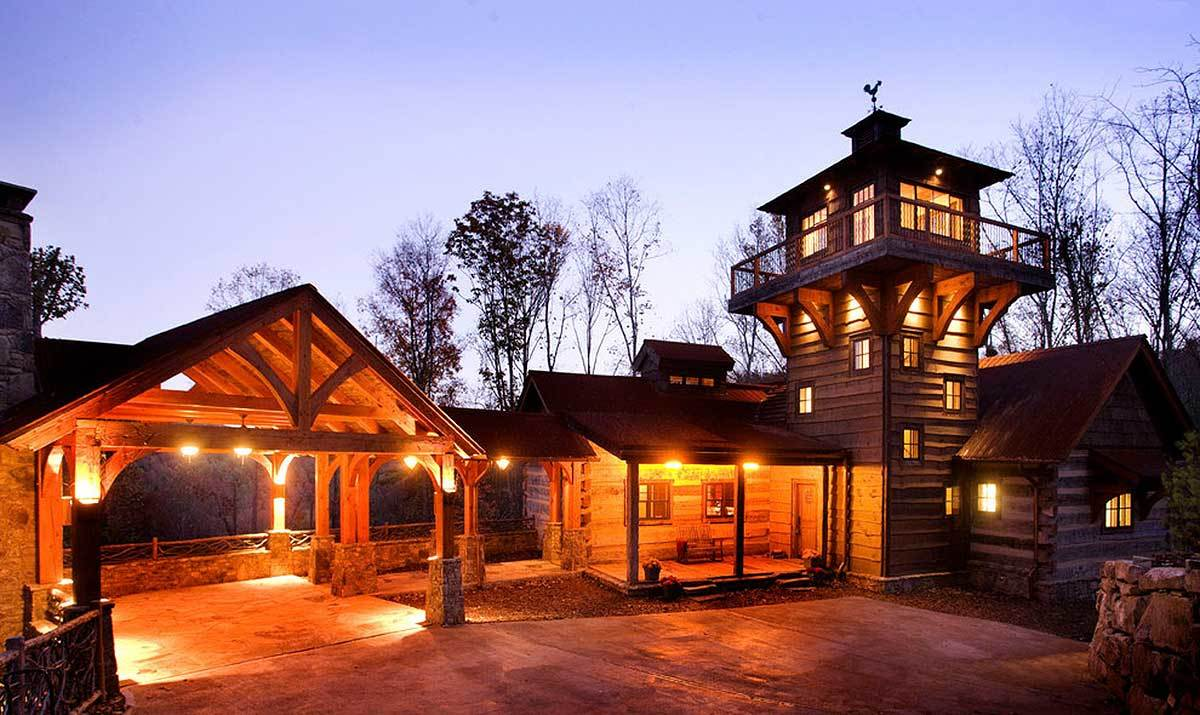 Mountain retreat with lookout tower 13307ww for Lookout tower house plans
