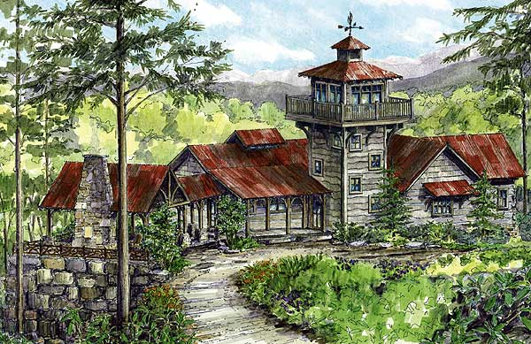 Lookout house plans home design and style for Tower home plans
