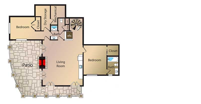 house floor plans with observation tower room
